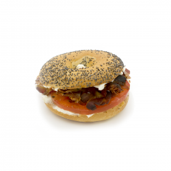 "Le ""B.C.B."" Bagel Cream cheese Bacon (Bagel Nature)"
