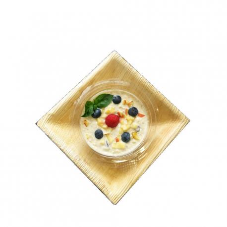 Crunchy bircher muesli with red fruits